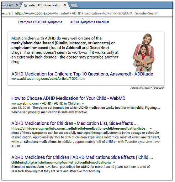 Google features misleading information for parents